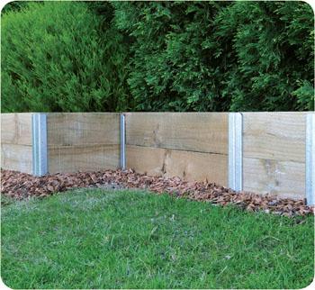 Steel Post Retaining Wall Retain It System Galvanised